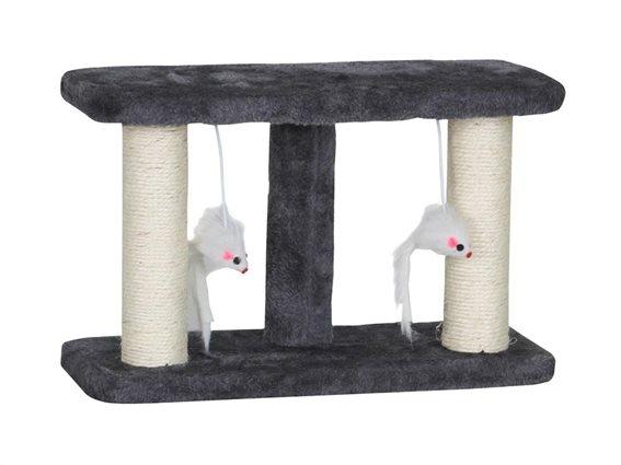 Ονυχοδρόμιο Γάτας Γατόδεντρο με κρεμαστά παιχνίδια, 35x15x22 cm, Double Scratching Stand