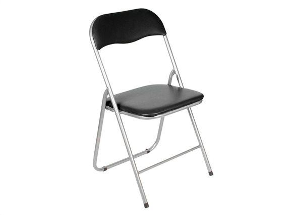 Πτυσσόμενη καρέκλα με πλαστικό κάθισμα και πλάτη, για εσωτερική και εξωτερική χρήση