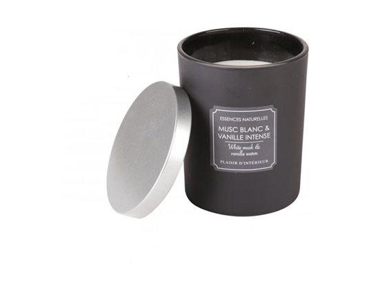 Αρωματικό Κερί χώρου με άρωμα White musk και Βανίλια με 2 φιτίλια, 10x12.5 cm, Aromatic Candle