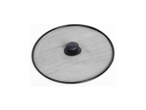 Καπάκι με Μεταλλικό Στεφάνι 29cm και Χειρολαβή, Anti Splatter Pan Lid Μαύρο