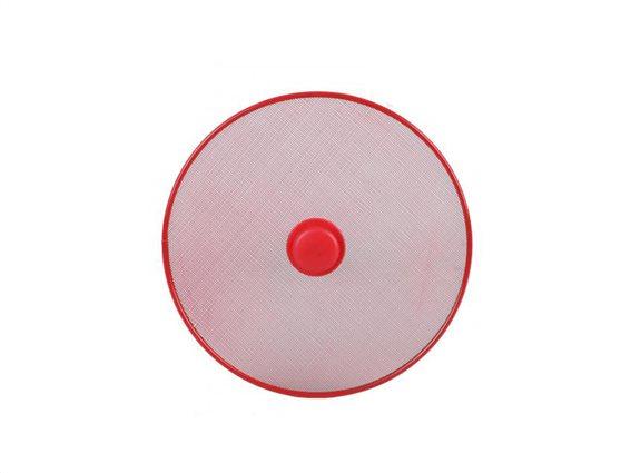 Καπάκι με Μεταλλικό Στεφάνι 29cm και Χειρολαβή, Anti Splatter Pan Lid Κόκκινο