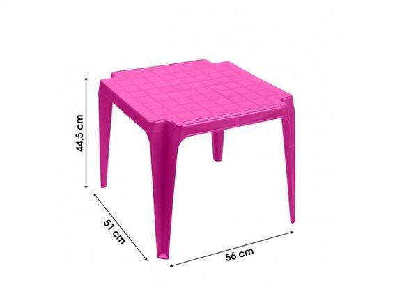Παιδικό πλαστικό τραπεζάκι δραστηριοτήτων, σε φούξια χρώμα, 44.5x51x56cm