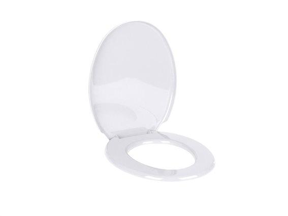 Καπάκι λεκάνης μπάνιου σε λευκό χρώμα, 36.5x45.4x3 cm
