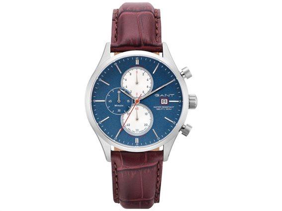 Gant WAD7041199I Ανδρικό Ρολόι με Δερμάτινο Λουράκι σε καφέ χρώμα σε συσκευασία δώρου