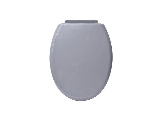 Καπάκι λεκάνης μπάνιου σε γκρι χρώμα, 37x46.8x3.5 cm, Toilet seat