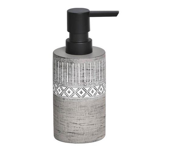 Κεραμικός Διανεμητής σαπουνιού Δοχείο για κρεμοσάπουνο 160ml σε γκρι χρώμα με αντλία, Soap dispenser
