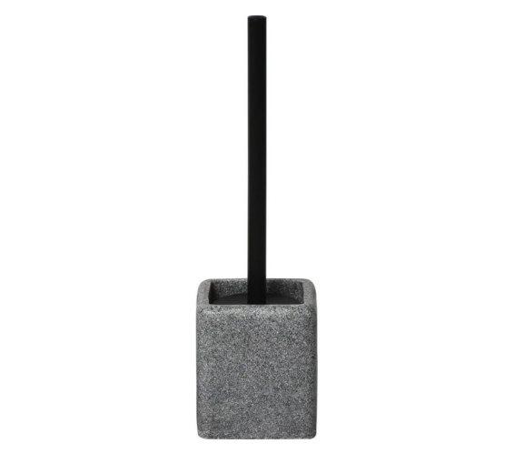 Πιγκάλ μπάνιου με λαβή για το βουρτσάκι σε μαύρο χρώμα, 10.3x10.3x35.5 cm, Toilet brush