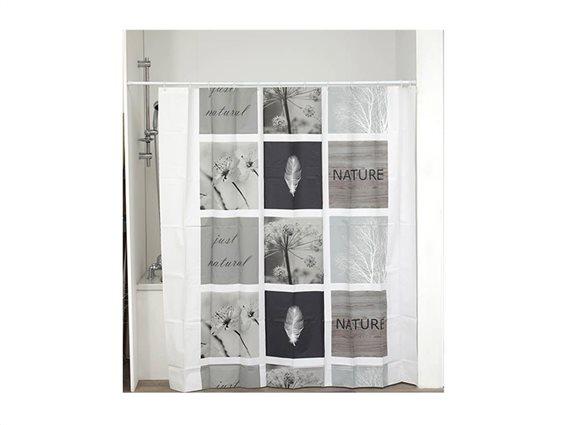 Κουρτίνα Μπάνιου με σχέδιο σε γήινες αποχρώσεις, 180x180 cm, Shower Curtain Monceau