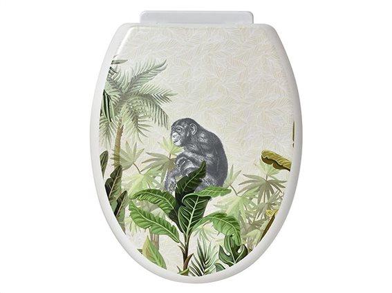 Καπάκι λεκάνης μπάνιου με πλαστικούς μεντεσέδες και μοντέρνο σχέδιο, Bonobo