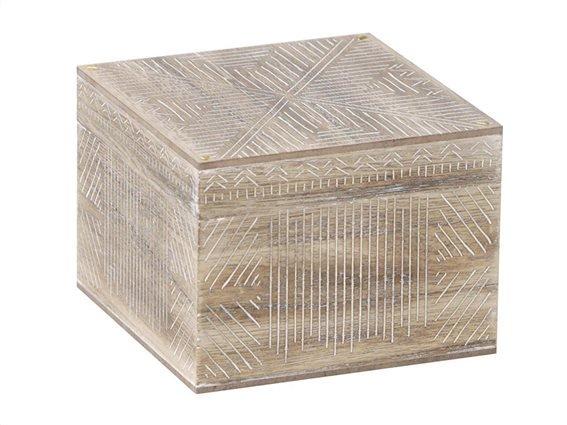 Aria Trade Ξύλινη Κοσμηματοθήκη Μπιζουτιέρα με ανάγλυφο σχέδιο, Jewelry Box