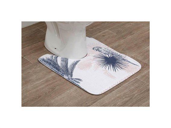 Πατάκι Λεκάνης Μπάνιου από Μικροϊνες με σχέδιο, 45x50 cm, Toilet mat Django