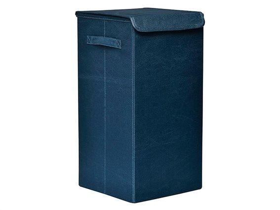 Πτυσσόμενο Καλάθι απλύτων σε μπλε χρώμα, 30x30x60 cm, Laundry basket