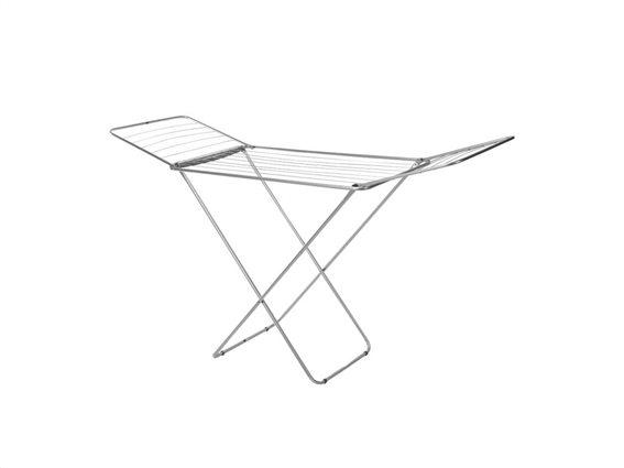 Μεταλλική Απλώστρα Ρούχων Αλουμινίου τρίφυλλη Πτυσσόμενη, 108x180x55 cm
