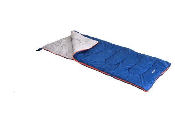Υπνόσακος Sleeping Bag σε μπλε χρώμα με φερμουάρ, 190x80 cm