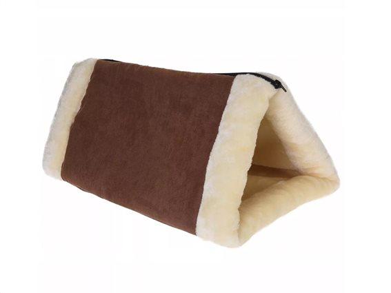 Κρεβάτι Γάτας 2 σε 1 σε καφέ μπεζ χρώμα, 90x60 cm, Cat cushion and tunnel