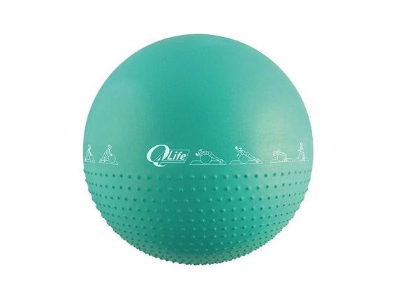 Φουσκωτή μπάλα γυμναστικής για Yoga και Pilates διαμέτρου 65cm με τρόμπα, Yoga ball Πράσινο