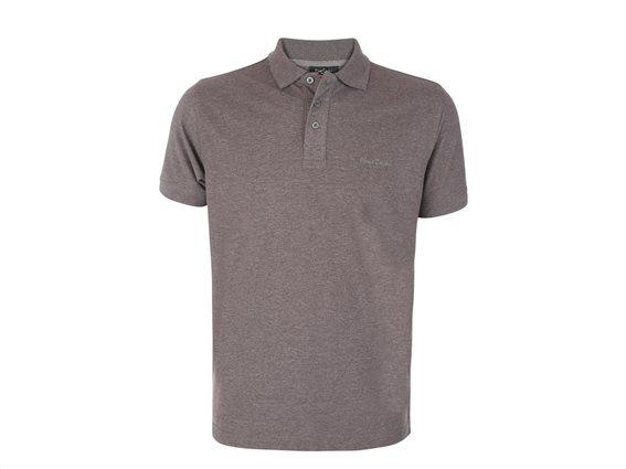Pierre Cardin Ανδρικό μπλουζάκι polo πικέ T-Shirt,κοντό μανίκι κουμπιά σε Γκρι Ανθρακί χρώμα XXLarge