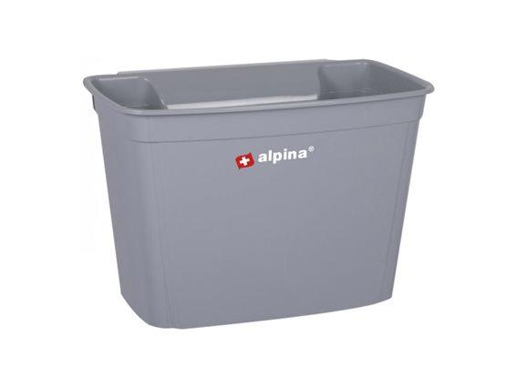 Καλάθι απορριμμάτων κρεμαστό για το ντουλάπι χωρητικότητας 4L, 16x18x27 cm Γκρι