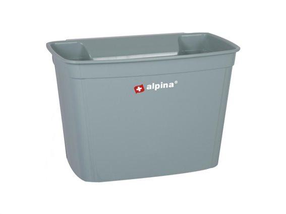 Καλάθι απορριμμάτων κρεμαστό για το ντουλάπι χωρητικότητας 4L, 16x18x27 cm Χακί