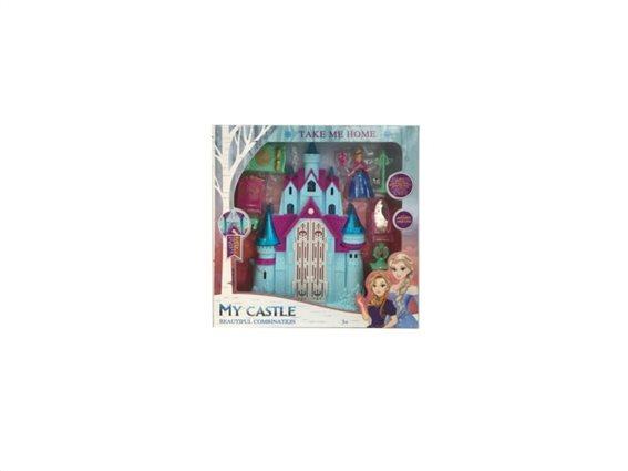 Παιδικό μαγικό κάστρο με φιγούρα πριγκίπισσα και αξεσουάρ, Magic castle