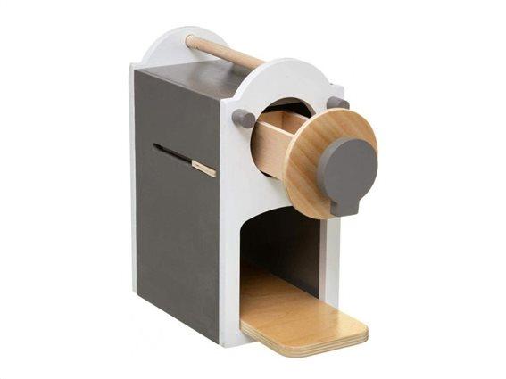 Ξύλινη παιδική μηχανή Espresso με ξύλινες κάψουλες και κούπα σερβιρίσματος, 22x22.3x11 cm