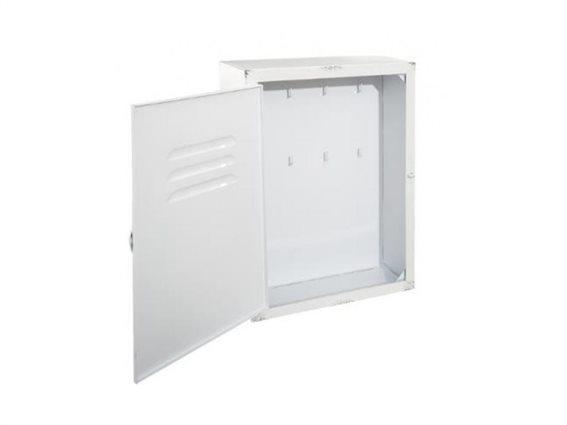 Επιτοίχια Μεταλλική Κλειδοθήκη με 6 θέσεις για κλειδιά, 23.5x9x30 cm, Key box Λευκό