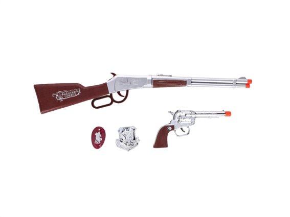 Σετ Παιδικό Παιχνίδι Όπλα και αξεσουάρ 4 τεμαχίων, Eddy toys Cowboy set