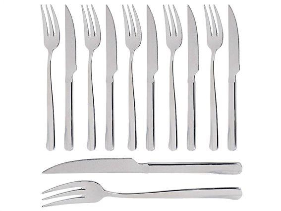 Σετ Μαχαιροπίρουνα 12 τεμαχίων από Ανοξείδωτο Ατσάλι, Alpina Cutlery set