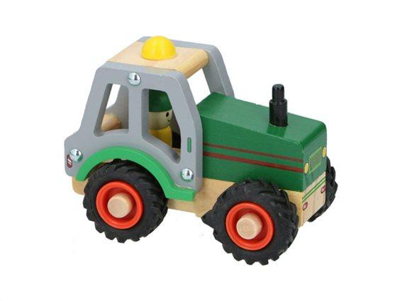 Ξύλινο Παιχνίδι οχήματα Τρακτέρ, 9.5x7.8x12.5 cm