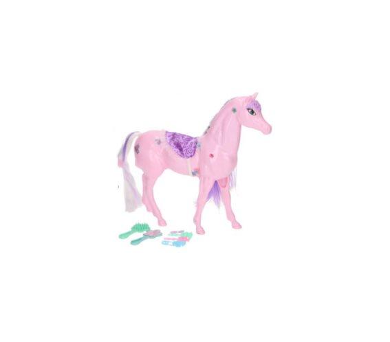 Παιδικό Παιχνίδι Μαγικό Πόνυ με χαίτη και αξεσουάρ, 33x27.5x7.5cm Ροζ