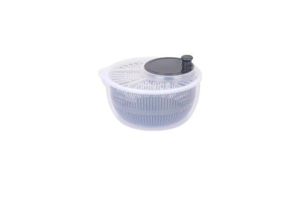Στεγνωτήρας αναδευτήρας λαχανικών με λειτουργία κυκλικής κίνησης, 24x24x12 cm Γκρι