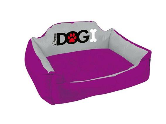 Κρεβάτι σκύλου και άλλων κατοικίδιων αδιάβροχο σε Μωβ Χρώμα, 53x42x25 cm