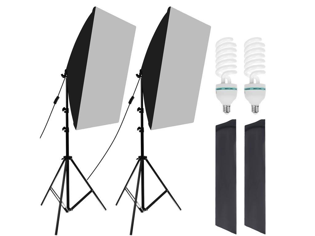 Επαγγελματικό σετ φωτισμού για στούντιο φωτογράφιση και θήκες μεταφοράς, Softbox Set