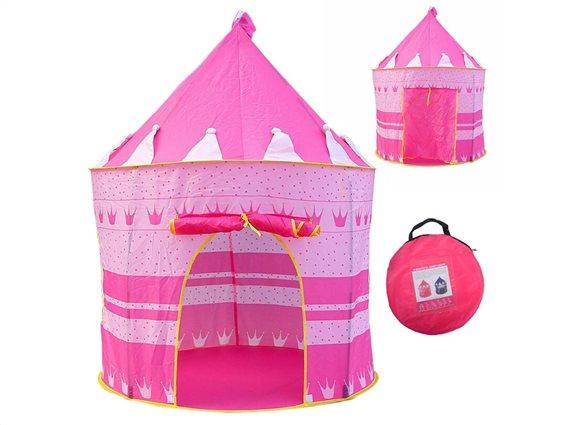 Aria Trade Παιδική Σκηνή Κάστρο Ροζ 135x105 cm