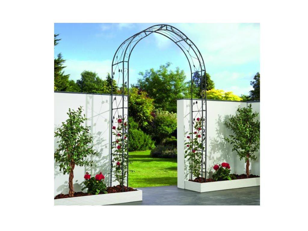 Μεταλλική Πέργκολα Αψίδα Αναρρίχησης για Λουλούδια για τον Κήπο, την Αυλή, 145x260x38 cm