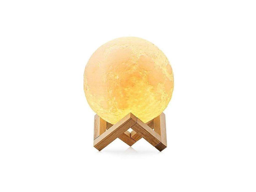 Ανάγλυφο Διακοσμητικό Φωτιστικό Αφής 3D Φεγγάρι διαμέτρου 8cm, Glowing Moon lamp