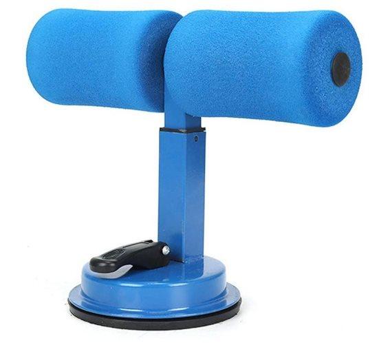 Βάση στήριξης και αντίστασης για κοιλιακούς και ασκήσεις δαπέδου με βεντούζα, Leg holder Γαλάζιο