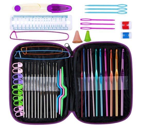 Σετ Εργαλεία για Πλέξιμο 50 τεμαχίων σε θήκη μεταφοράς, Crochet kit