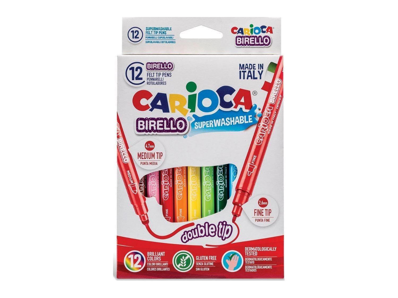 Carioca Birello Σετ Μαρκαδόροι 12 τεμαχίων με δύο μύτες, Double Tip