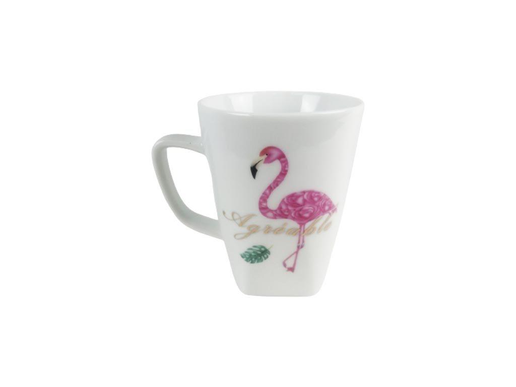 Κεραμική Κούπα με λαβή και σχέδιο Φλαμίνγκο, Flamingo mug