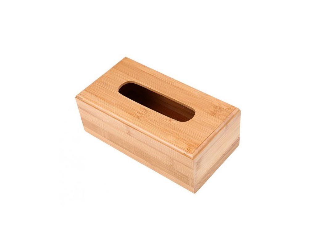 Θήκη για χαρτομάντηλα από Ξύλο Bamboo, 23.5x11.5x9 cm, Tissue case