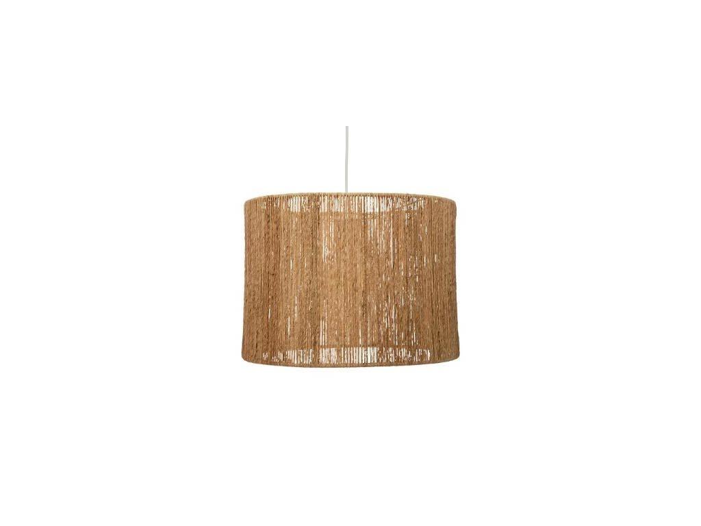 Διακοσμητικό Κρεμαστό Φωτιστικό Οροφής σε μπεζ χρώμα, από Γιούτα, 38x32.5 cm