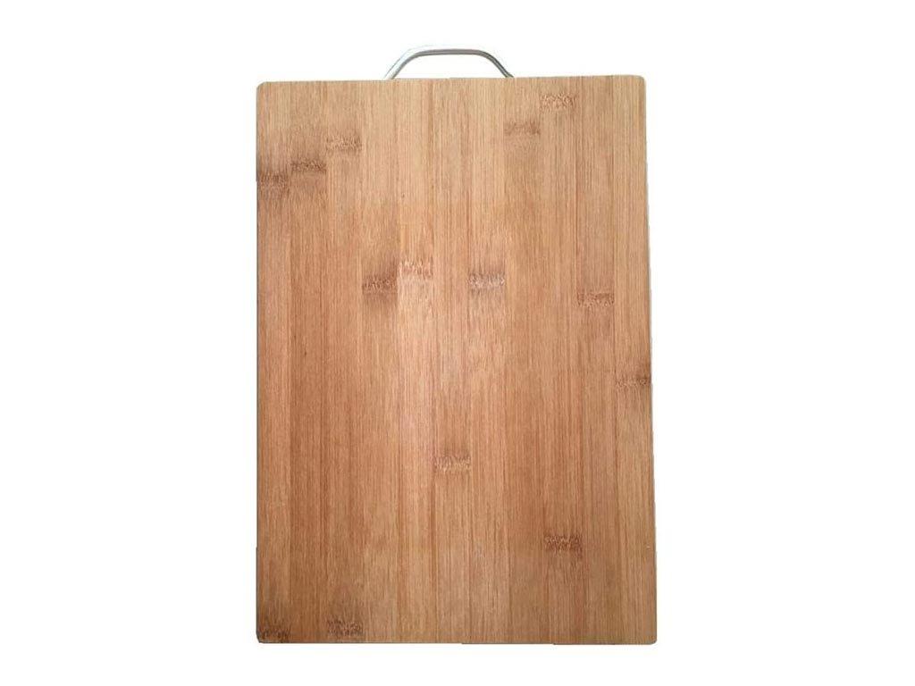 Bamboo Επιφάνεια κοπής σε φυσικό χρώμα ξύλου με μεταλλική λαβή, 30x40x1.8 cm, Cutting board