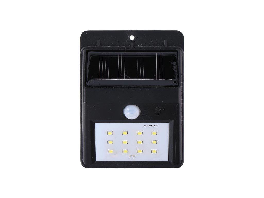 Solar Ηλιακός Προβολέας Φωτιστικό led με Αισθητήρα Κίνησης σε μαύρο χρώμα, 11.5x8x4 cm, Grundig