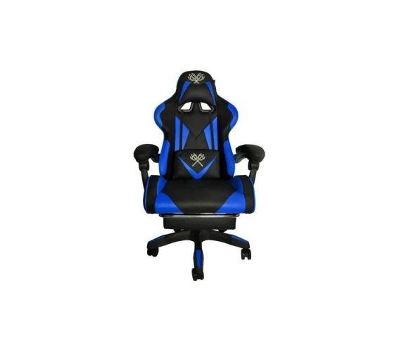 Aria Trade Καρέκλα Gaming Δερματίνη με υποπόδιο Μπλε