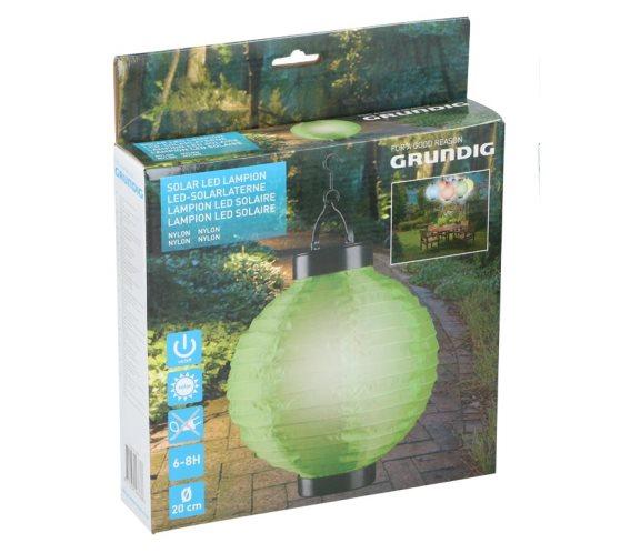 Ηλιακό Κρεμαστό Φαναράκι Φωτιστικό LED Εξωτερικού Χώρου, Solar lamp Πράσινο