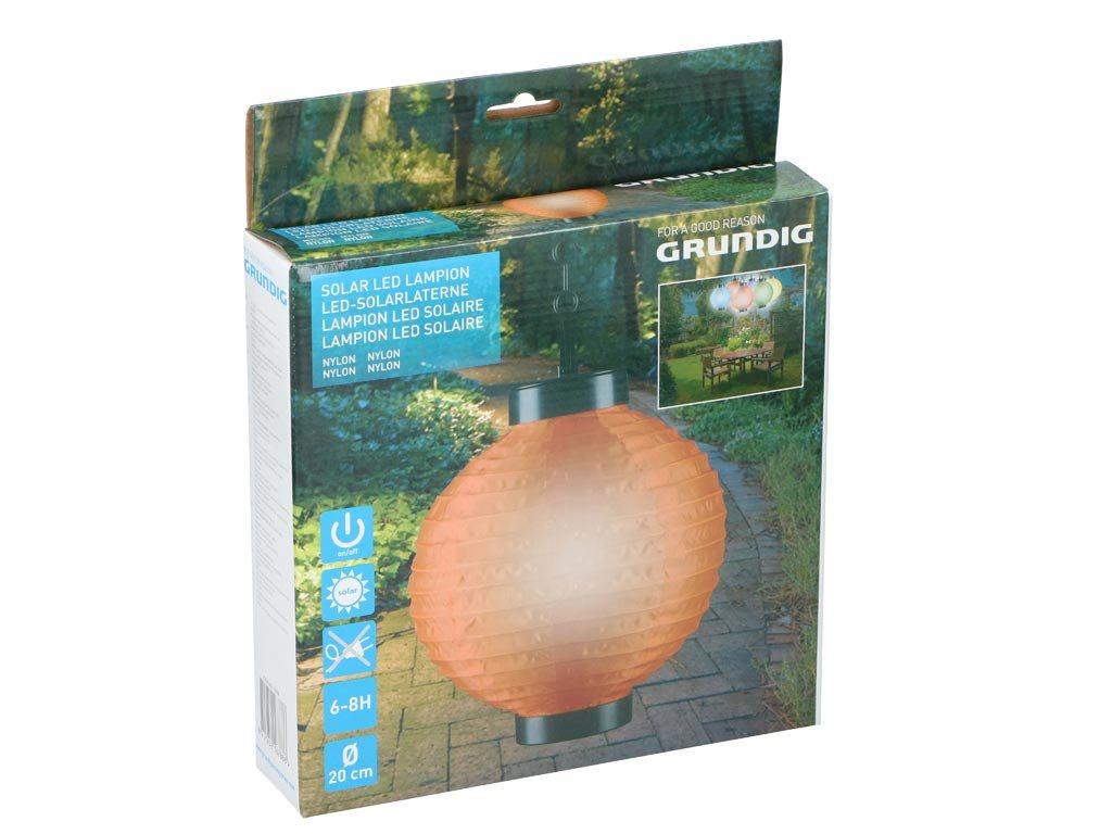 Ηλιακό Κρεμαστό Φαναράκι Φωτιστικό LED Εξωτερικού Χώρου, Solar lamp Πορτοκαλί
