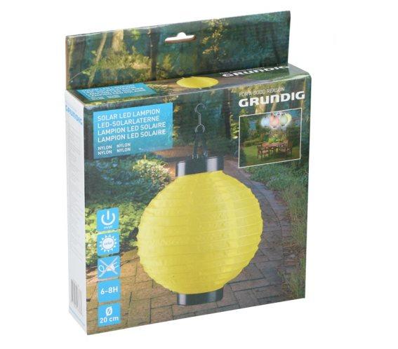 Ηλιακό Κρεμαστό Φαναράκι Φωτιστικό LED Εξωτερικού Χώρου, Solar lamp Κίτρινο