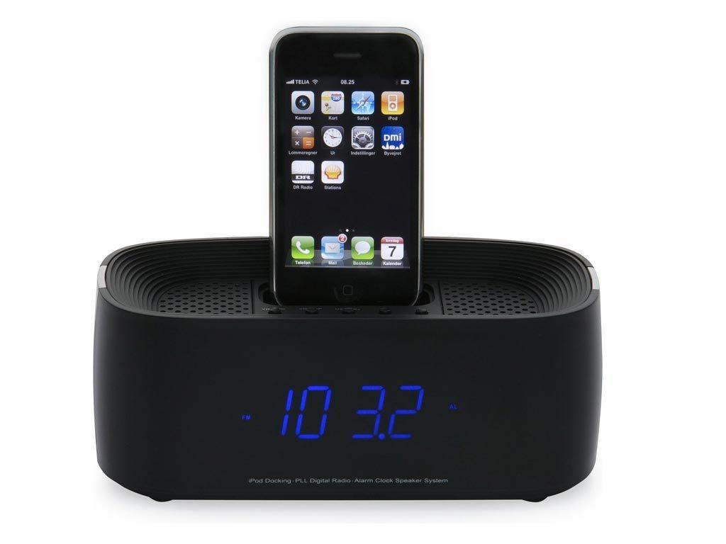 Denver ηχείο με ξυπνητήρι και ραδιόφωνο για σύνδεση Iphone και Ipod σε μαύρο χρώμα, IFM-15
