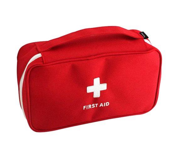 Υφασμάτινο τσαντάκι αποθήκευσης φαρμάκων ή ειδών πρώτων βοηθειών σε 2 χρώματα, 24x13x7 cm Κόκκινο